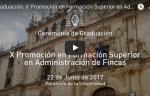 Video acto graduación curtso administrador de fincas